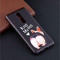 Недорогие Чехлы и кейсы для Nokia-Кейс для Назначение Nokia Nokia 5.1 / Nokia 3.1 С узором Кейс на заднюю панель С собакой Мягкий ТПУ для Nokia 8 / Nokia 6 / Nokia 5