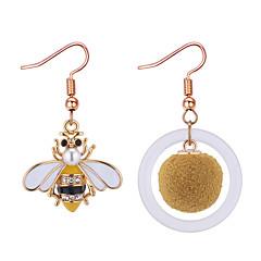 preiswerte Ohrringe-Damen Nicht übereinstimmend Tropfen-Ohrringe - Strass Biene Europäisch, Modisch Gold Für Normal Alltag