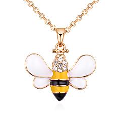 preiswerte Halsketten-Damen Stilvoll Anhängerketten - Strass Biene Europäisch, Modisch, nette Art Gelb, Rot 40 cm Modische Halsketten Schmuck 1pc Für Normal