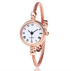 preiswerte Damenuhren-Damen Armband-Uhr Armbanduhr Quartz Armbanduhren für den Alltag Legierung Band Analog Modisch Minimalistisch Schwarz / Silber / Gold - Silbrig / White Gold / Weiß Schwarz / Silber