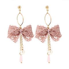 preiswerte Ohrringe-Damen Quaste Tropfen-Ohrringe - Spitze Schleife damas Koreanisch Süß Modisch Schmuck Weiß / Schwarz / Rosa Für Party 1 Paar