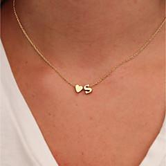 preiswerte Halsketten-Damen Klassisch / Stilvoll Charm Halskette - Herz Einfach, Klassisch, Modisch Gold 41 cm Modische Halsketten 1pc Für Alltag, Büro & Karriere