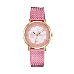 preiswerte Damenuhren-Damen Armbanduhr Quartz Armbanduhren für den Alltag Plastic Band Analog Blume Modisch Schwarz / Weiß / Rot - Rot Rosa Hellblau