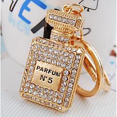 preiswerte Schlüsselanhänger-Flasche Schlüsselanhänger Gold Geometrische Form Aleación Diamant / Strass verziertes Gehäuse, Modisch Für Alltag / Verabredung