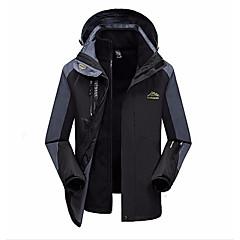 cheap Men's Downs & Parkas-Men's Going out Color Block Regular Padded, Polyester Long Sleeve Winter Hooded Black / Red / Army Green XXXXXL / XXXXXXL / 8XL