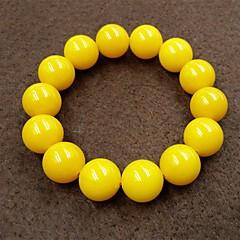 preiswerte Armbänder-Herrn Glasperlen Strang-Armbänder - Kreativ, Kugel Asiatisch, Einfach, Ethnisch Armbänder Gelb Für Alltag Strasse