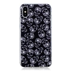 Недорогие Кейсы для iPhone X-Кейс для Назначение Apple iPhone X / iPhone 8 Plus Ультратонкий / С узором Кейс на заднюю панель Черепа Мягкий ТПУ для iPhone X / iPhone 8 Pluss / iPhone 8