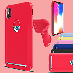 abordables Fundas para iPhone 7 Plus-Funda Para Apple iPhone X / iPhone 8 Plus Soporte de Coche / Antigolpes Funda Trasera Un Color Suave TPU para iPhone X / iPhone 8 Plus / iPhone 8