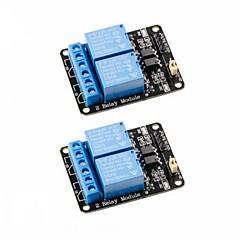 お買い得  センサー-2pcs 2チャンネルdc 5vリレーモジュール、オプトカプラ低レベルトリガ拡張ボードarduino uno r3 mega 2560用