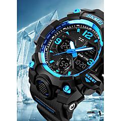 preiswerte Armbanduhren für Paare-SKMEI Armbanduhr Digitaluhr Sender Wasserdicht, Kalender, Chronograph Gelb / Rot / Blau / Stopuhr / Nachts leuchtend
