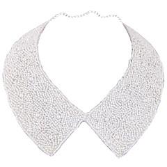 preiswerte Halsketten-Damen Geflochten Kragen - Klassisch, Europäisch, Modisch Weiß 38 cm Modische Halsketten Schmuck 1pc Für Party / Abend, Alltag