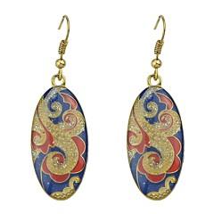 preiswerte Ohrringe-Damen Stilvoll Tropfen-Ohrringe - Glücklich Grundlegend, Modisch Grün / Blau / Rosa Für Alltag / Verabredung