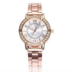 preiswerte Damenuhren-Damen Kleideruhr Armbanduhr Quartz Neues Design Armbanduhren für den Alltag Imitation Diamant Legierung Band Analog Modisch Elegant Silber / Gold / Rotgold - Gold Silber Rotgold Ein Jahr
