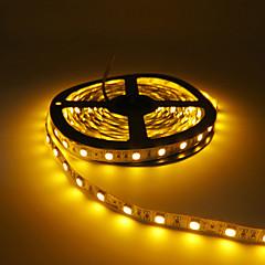 お買い得  LED ストリングライト-HKV 5m フレキシブルLEDライトストリップ 300 LED 5050 SMD レッド / イエロー / グリーン カット可能 / 接続可 / ノンテープ・タイプ 12 V