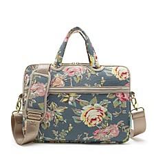 """preiswerte Laptop Taschen-Segeltuch Muster / Blume Umhängetasche / Handtaschen 13 """"Laptop / 14 """"Laptop / 15 """"Laptop"""