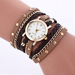 お買い得  レディース腕時計-女性用 ブレスレットウォッチ 中国 カジュアルウォッチ PU バンド カジュアル / ファッション 白 / ブルー / レッド