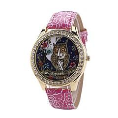 preiswerte Damenuhren-Damen Kleideruhr / Armbanduhr Chinesisch Neues Design / Armbanduhren für den Alltag / Imitation Diamant PU Band Freizeit / Modisch Schwarz / Weiß / Blau