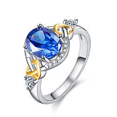 preiswerte Ringe-Paar Kristall / Kubikzirkonia Stilvoll Eheringe / Verlobungsring - Herzförmig Süß, Modisch, Elegant 6 / 7 / 8 Rot / Grün / Hellblau Für Verlobung / Geschenk