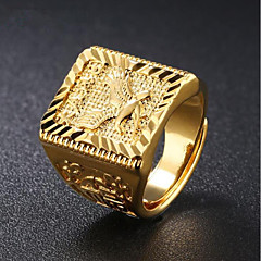 cheap Men's Jewelry-Men's Stylish Ring - 18K Gold Eagle Fashion Adjustable Gold For Daily Evening Party