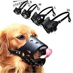 お買い得  犬用首輪/リード/ハーネス-犬用 樹皮の首輪 アンチ犬叫 / 安全用具 ソリッド / パンク 本革 ブラック / Brown