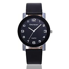 preiswerte Damenuhren-Damen Kleideruhr / Armbanduhr Chinesisch Armbanduhren für den Alltag PU Band Freizeit / Modisch Schwarz / Blau / Rot