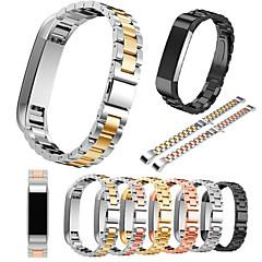 ieftine -Uita-Band pentru Fitbit Alta Fitbit Catarama Clasica Oțel inoxidabil Curea de Încheietură