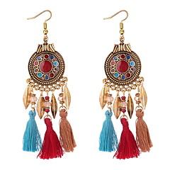 preiswerte Ohrringe-Damen Quaste Stilvoll Tropfen-Ohrringe - Blattform Böhmische, Europäisch, Ethnisch Schwarz / Rot / Blau Für Party Alltag