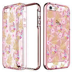 お買い得  iPhone 5S/SE ケース-ケース 用途 Apple iPhone 5ケース メッキ仕上げ / 半透明 / パターン バックカバー 果物 ソフト TPU のために iPhone SE / 5s / iPhone 5