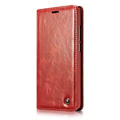 Недорогие Чехлы и кейсы для Huawei Mate-Кейс для Назначение Huawei Mate 9 Кошелек / Бумажник для карт / Флип Чехол Однотонный Твердый Кожа PU для Mate 9