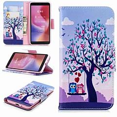 Недорогие Чехлы и кейсы для Xiaomi-Кейс для Назначение Xiaomi Redmi Note 5 Pro / Redmi 6 Кошелек / Бумажник для карт / со стендом Чехол Сова Твердый Кожа PU для Xiaomi Redmi Note 5 Pro / Redmi 6A / Redmi 6