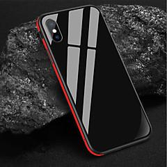 Недорогие Кейсы для iPhone X-Кейс для Назначение Apple iPhone XS / iPhone XR Защита от удара / Зеркальная поверхность Кейс на заднюю панель Однотонный Твердый Закаленное стекло для iPhone XS / iPhone XR / iPhone XS Max