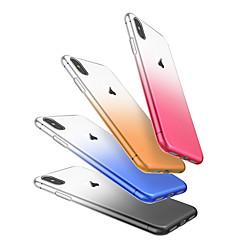 Недорогие Кейсы для iPhone-Кейс для Назначение Apple iPhone X / iPhone 8 / iPhone 8 Plus Защита от пыли Кейс на заднюю панель Градиент цвета Мягкий ТПУ для iPhone X / iPhone 8 Pluss / iPhone 8