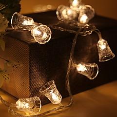 お買い得  LED ストリングライト-1.2m ストリングライト 10 LED 温白色 クール 単3乾電池 1個