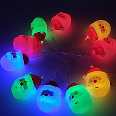 preiswerte LED Lichtstreifen-1.5 Leuchtgirlanden 10 LEDs Warmes Weiß / Weiß / Mehrfarbig Neues Design / Dekorativ / Cool AA-Batterien angetrieben 1 set