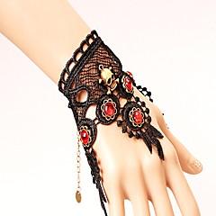 preiswerte Armbänder-Damen Rot Rubin Vintage Stil Vintage Armbänder - Spitze Totenkopf Klassisch, Punk, Guro - Lolita Armbänder Schwarz Für Party Halloween