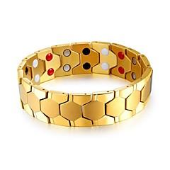 preiswerte Armbänder-Herrn Stilvoll Armband - Titanstahl Kreativ Modisch Armbänder Gold / Silber / Regenbogen Für Party Alltag