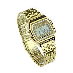 preiswerte Armbanduhren für Paare-Herrn Paar Sportuhr Japanisch Quartz 30 m Armbanduhren für den Alltag Großes Ziffernblatt Edelstahl Band Analog Freizeit Modisch Silber / Gold - Gold Silber