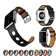cheap -Watch Band for Apple Watch Series 4/3/2/1 Apple Classic Buckle / Leather Loop Genuine Leather Wrist Strap