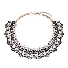 preiswerte Halsketten-Damen Stilvoll Statement Ketten - Tropfen Luxus, Europäisch, Hyperbel Grau, Blau 36 cm Modische Halsketten Schmuck 1pc Für Party, Geburtstag