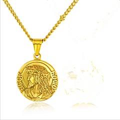 preiswerte Halsketten-Damen Stilvoll Anhängerketten - Titanstahl Kreativ Modisch Cool Gold, Silber 57+5 cm Modische Halsketten Schmuck 1 set Für Party / Abend, Alltag