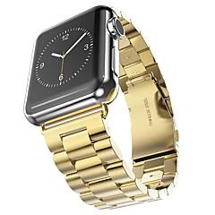 preiswerte Herrenuhren-Edelstahl Uhrenarmband Gurt für Apple Watch Series 3 / 2 / 1 Schwarz / Silber / Gold 23cm / 9 Zoll 2.1cm / 0.83 Inch