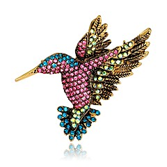 abordables Bijoux pour Femme-Femme Le style rétro / 3D Broche - Plaqué or Oiseau, Animal Original, Rétro Broche Arc-en-ciel Pour Soirée / Plein Air