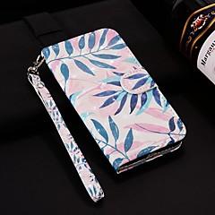 お買い得  Huawei Pシリーズケース/ カバー-ケース 用途 Huawei P smart / Enjoy 7S ウォレット / カードホルダー / スタンド付き フルボディーケース 植物 ハード PUレザー のために Huawei P20 / Huawei P20 Pro / Huawei P20 lite