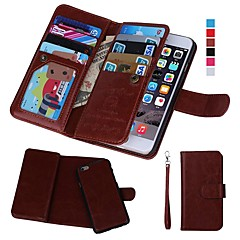 Недорогие Кейсы для iPhone 6-Кейс для Назначение Apple iPhone XR / iPhone XS Max Кошелек / Бумажник для карт / Защита от удара Чехол Однотонный Твердый Настоящая кожа для iPhone XS / iPhone XR / iPhone XS Max