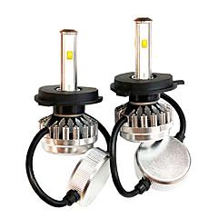 Недорогие Автомобильные фары-SO.K 2pcs 9003 / H7 / H4 Автомобиль Лампы 30 W Интегрированный LED / COB / Высокомощный LED 8000 lm 2 Светодиодная лампа Налобный фонарь Все года