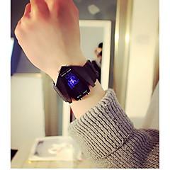 preiswerte Armbanduhren für Paare-Herrn Paar Sportuhr digital Kalender Nachts leuchtend Armbanduhren für den Alltag Plastic Band digital Freizeit Modisch Schwarz / Weiß - Weiß Schwarz