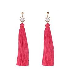preiswerte Ohrringe-Damen Quaste / Lang Tropfen-Ohrringe - Künstliche Perle Einfach, Europäisch, Modisch Rose / Rot / Grün Für Normal / Alltag