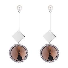 preiswerte Ohrringe-Damen Kubikzirkonia Vintage Stil Tropfen-Ohrringe - Künstliche Perle Sonne Luxus, Elegant, Britisch Weiß / Fuchsia / Kaffee Für Party / Abend Zeremonie