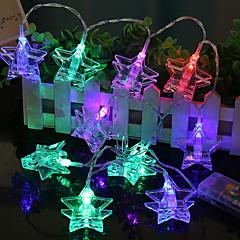 preiswerte LED Lichtstreifen-1.2 Leuchtgirlanden 10 LEDs Mehrfarbig Neues Design / Dekorativ / Cool AA-Batterien angetrieben