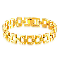 abordables Bijoux pour Femme-Homme Stylé Chaînes & Bracelets - Or 18 Carats Créatif Décontracté / Sport Bracelet Or Pour Soirée Quotidien